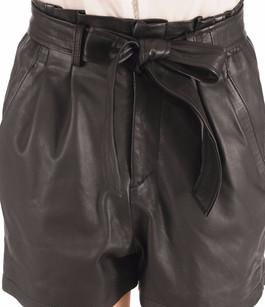 Short Cuir Femme noir Goosecraft