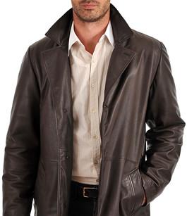 manteau cuir chaud noir pour homme la canadienne. Black Bedroom Furniture Sets. Home Design Ideas