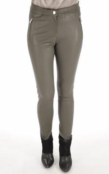 Pantalon Céleste agneau stretch kaki