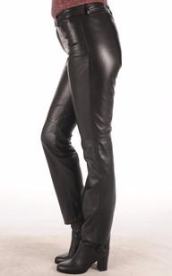 Pantalon Cuir Coupe Droite