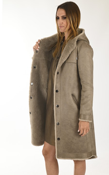 Manteau réversible Muse taupe