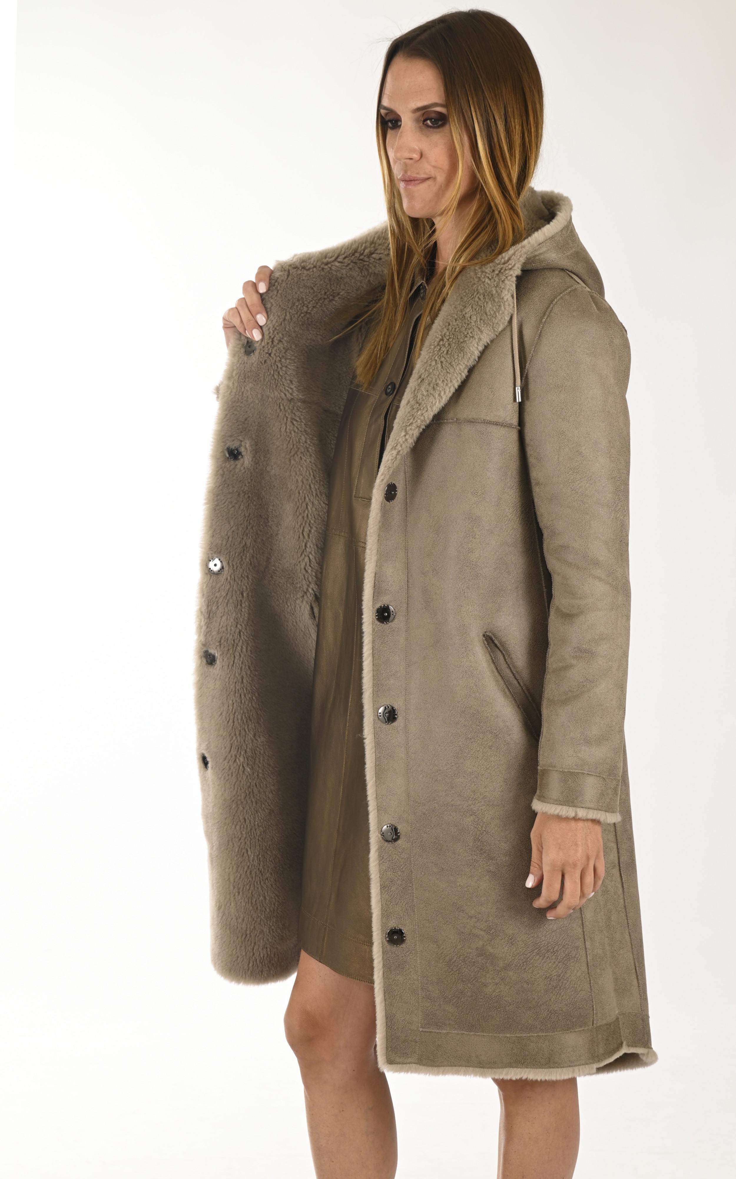 Manteau réversible Muse taupe Oakwood