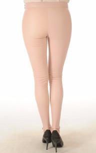 Legging Cuir Stretch Rose Poudré Mackage