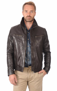 Blouson Washington Marron1