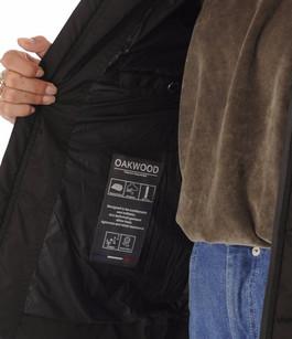 Doudoune courte cintrée noire Oakwood