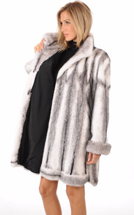 Manteau en Vison Black Cross Femme