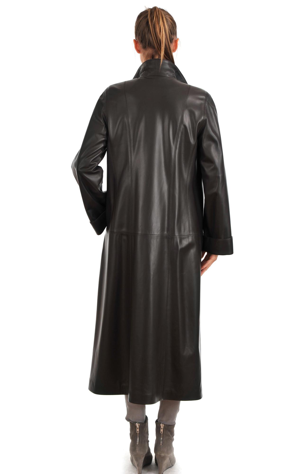Manteau cuir long pour femme