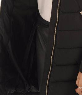 Doudoune longue noire femme Saki