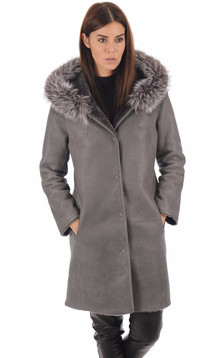 Manteau réversible mouton