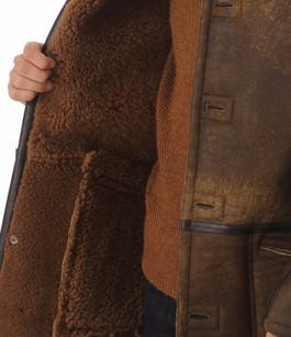 Veste longue Mouton style Caban Schott