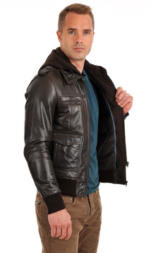 Blouson Gb Bomber Marron