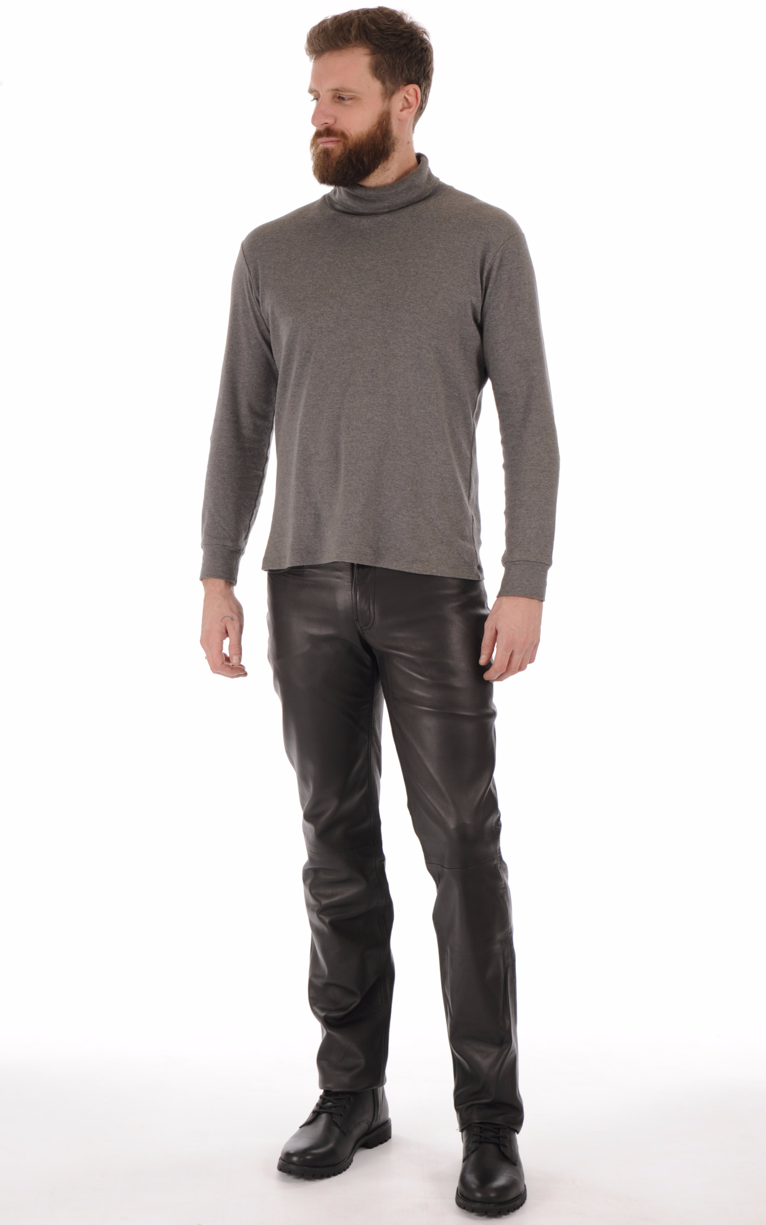 Pantalon Cuir Noir Homme Maddox