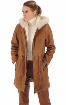 Duffle coat agneau cognac1