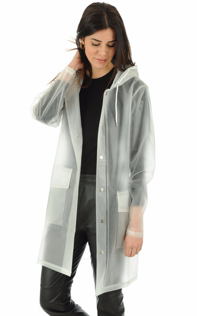 Coupe-vent transparent femme Rains - La Canadienne - Coupe-Vent / Imper. Textile Blanc