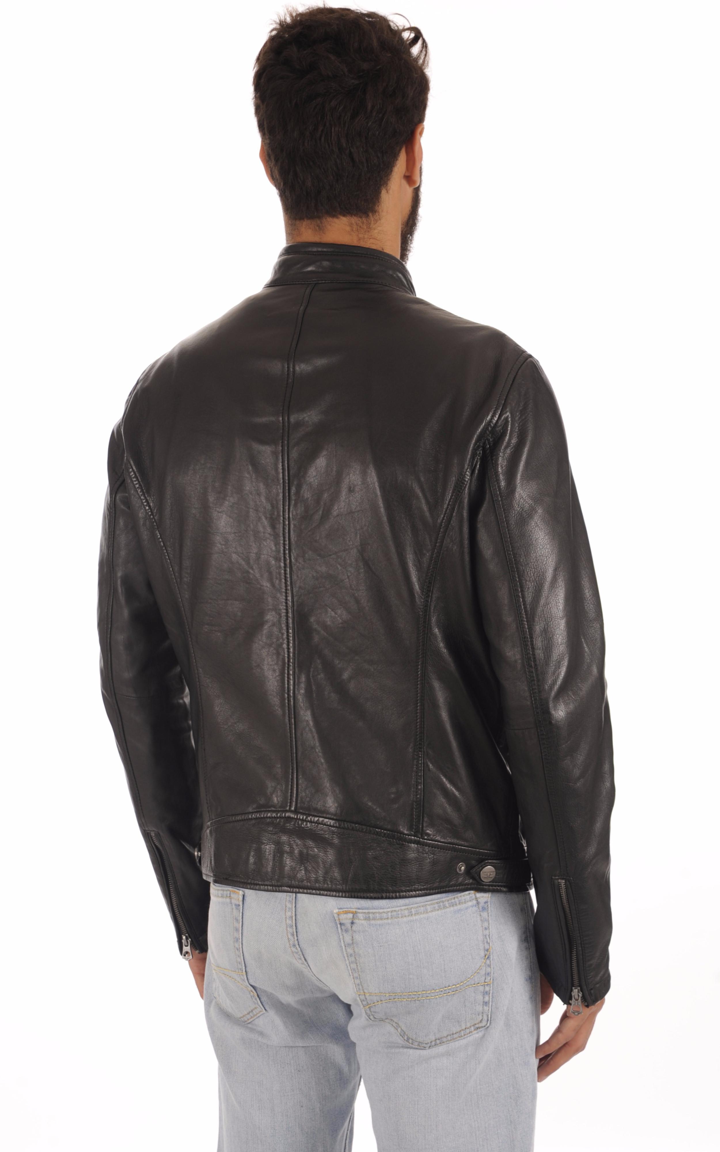 Blouson Confort Cuir Noir Homme Daytona 73