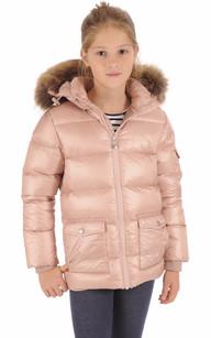 Doudoune Authentic Jacket Shiny Girl Rose1