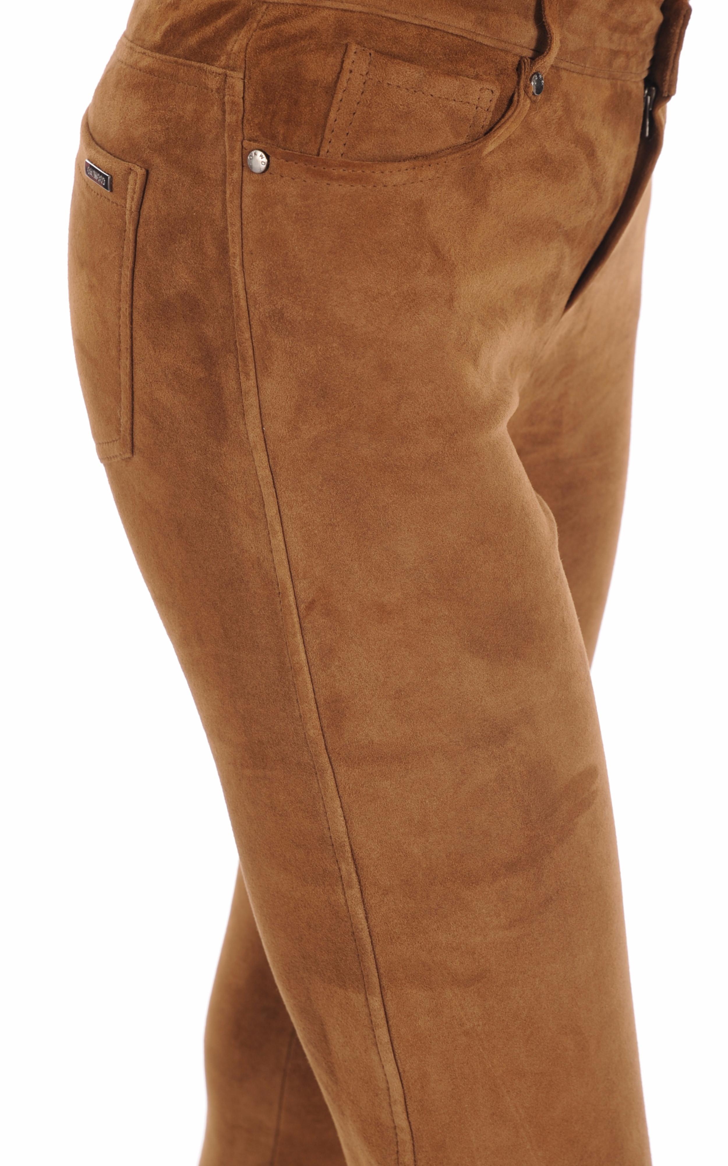 Pantalon Chèvre Stretch Cognac Oakwood
