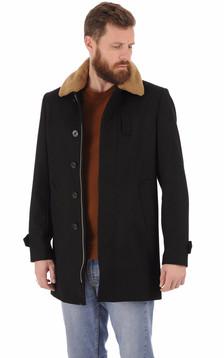 Manteau laine Maverick noir