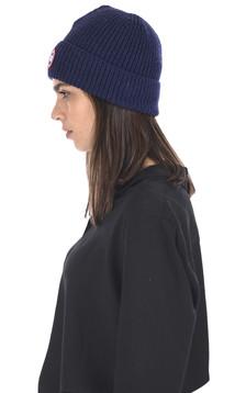 Bonnet laine bleu marine