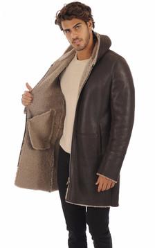 Manteau mouton marron foncé
