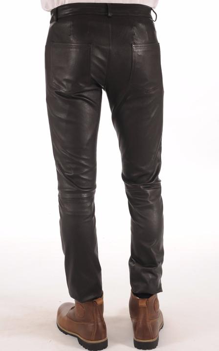d5e5b19f2f7b Pantalon Cuir Stretch Noir Homme