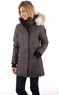 Parka Carla steel grey
