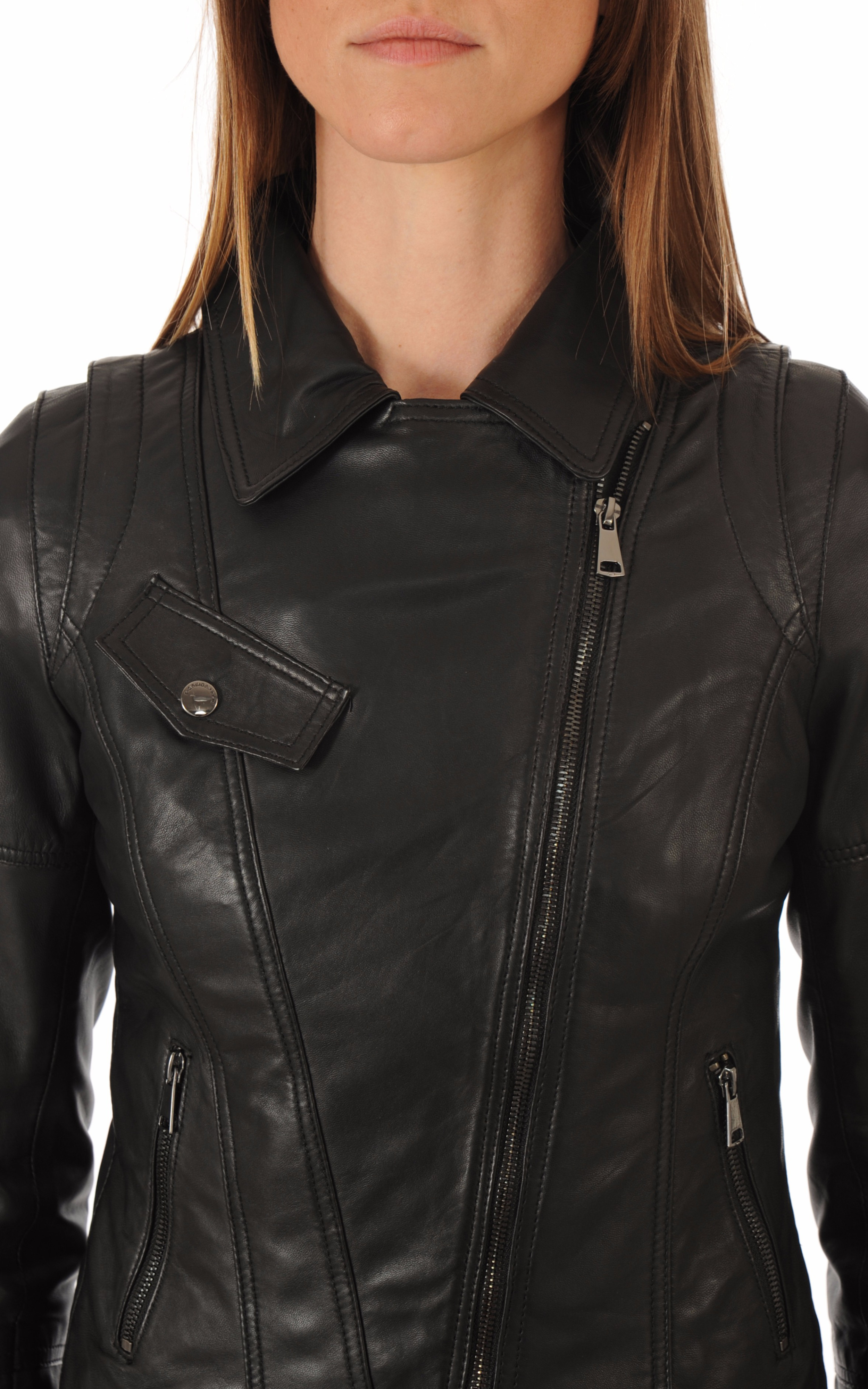 Blouson en cuir Lovely noir Giorgio