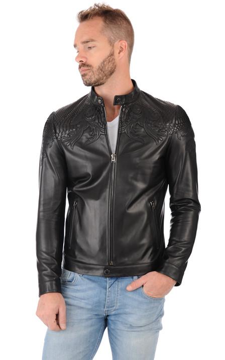 bd4d29604dfd Giorgio homme   Blouson, veste en cuir et manteau en fourrure ...