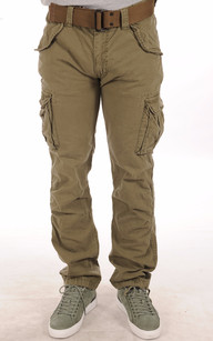 Pantalon Cargo Kaki1