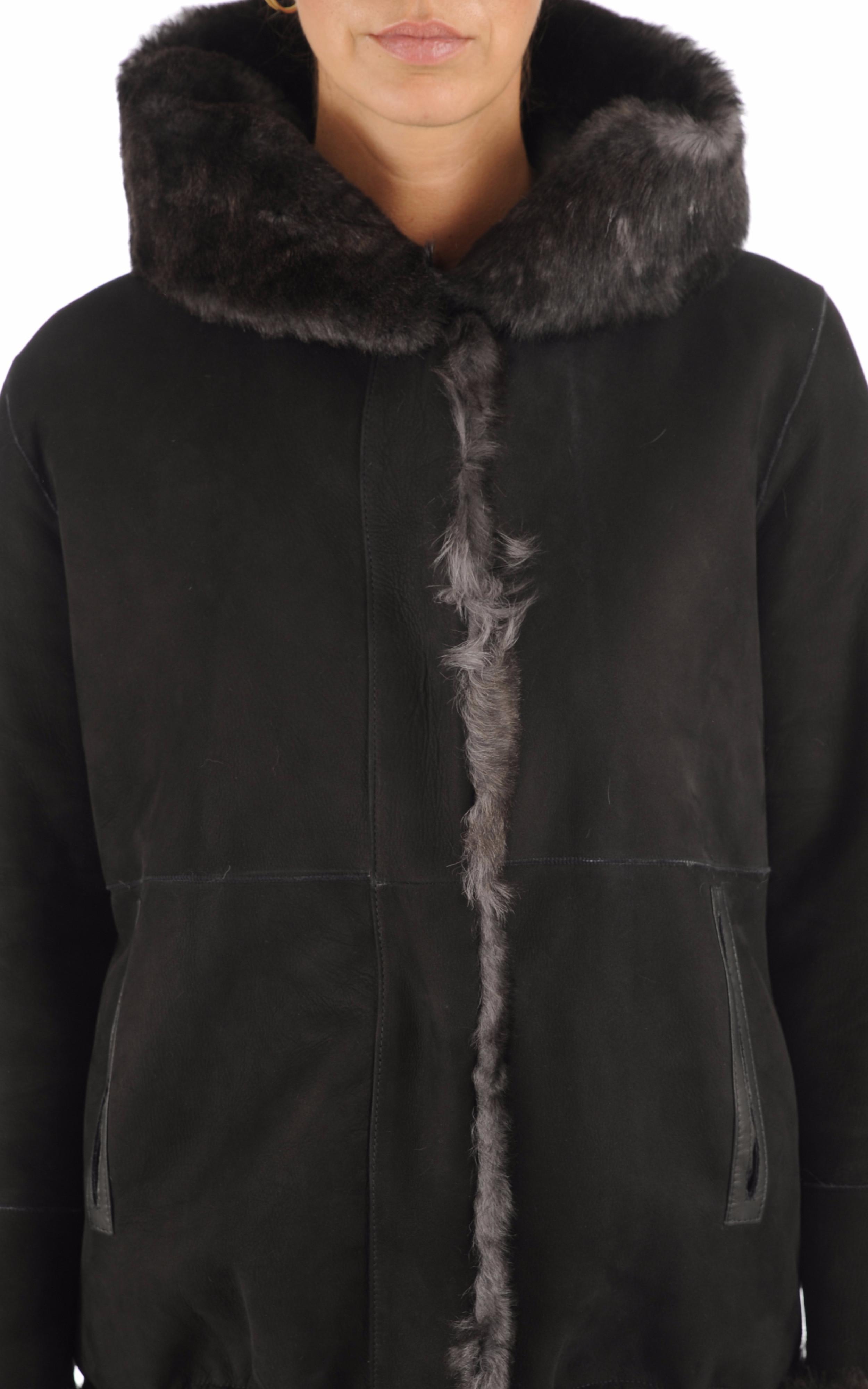 Peau lainée Alma noire Anne Delaigle