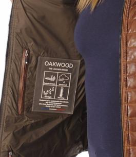 Blouson cuir femme toffee oakwood 61021