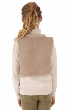 Gilet Fille Mouton Rose Chair