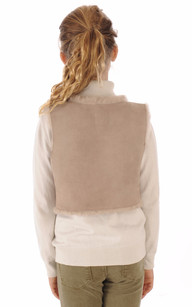 Gilet Fille Mouton Rose Chair Petit Nord