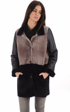 Manteau mérinos réversible femme1