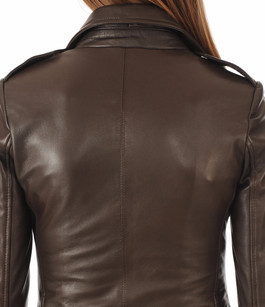 Blouson City Girl Marron Serge Pariente