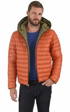 Doudoune réversible Ezra orange