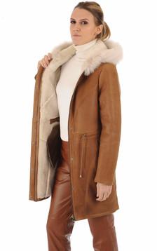 Duffle coat agneau cognac