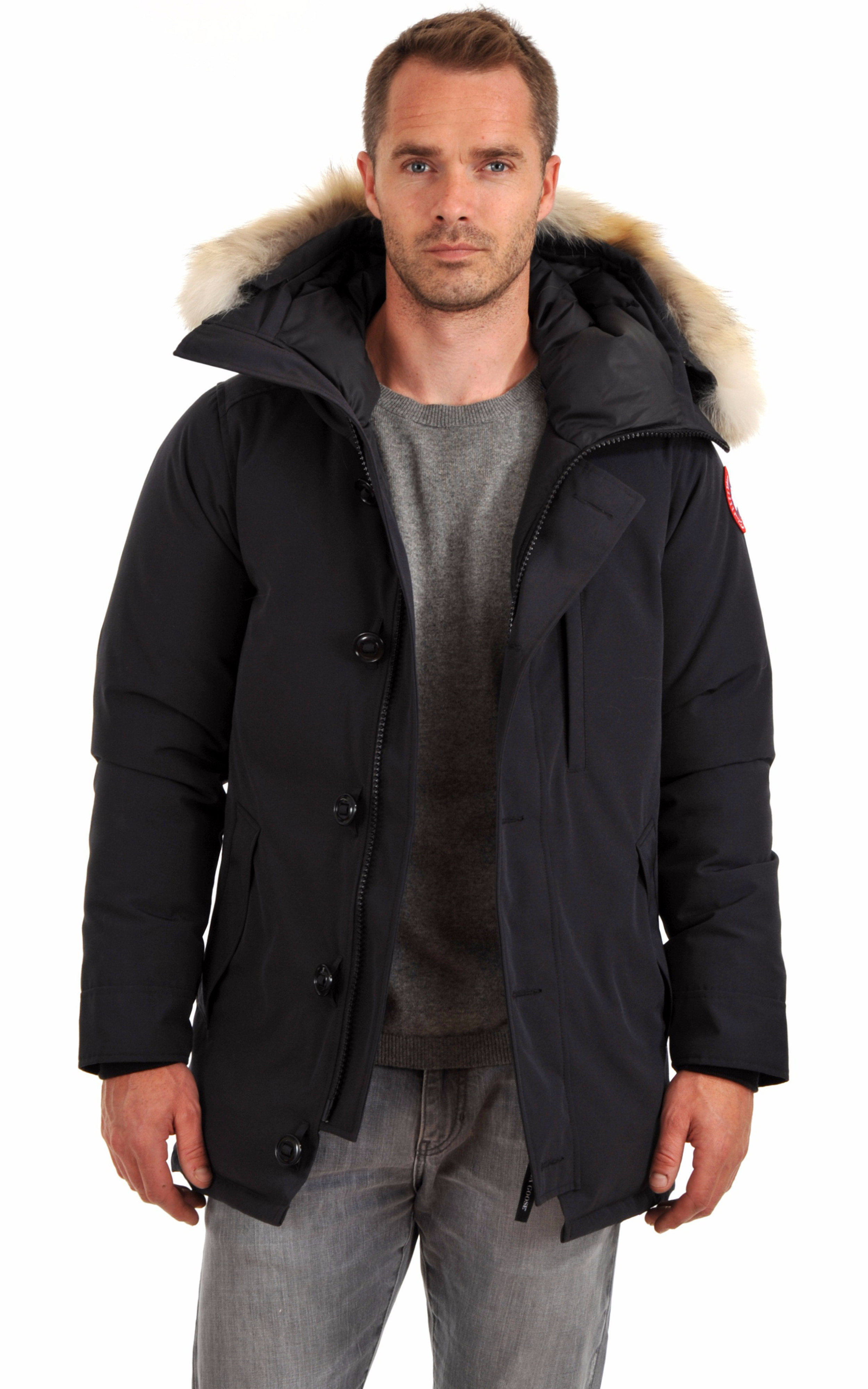 parka the chateau navy canada goose la canadienne. Black Bedroom Furniture Sets. Home Design Ideas
