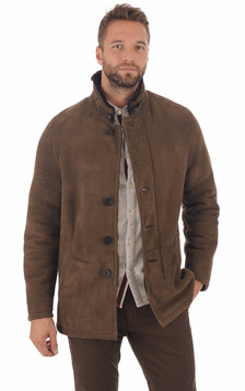 Veste peau lainée entrefino