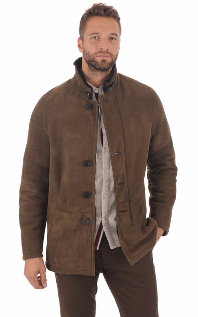 Veste peau lainé entrefino Christ