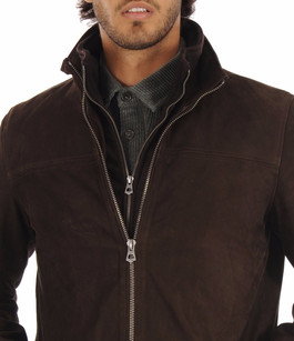 Veste Nubuck Marron La Canadienne