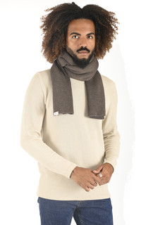 Echarpe en laine taupe