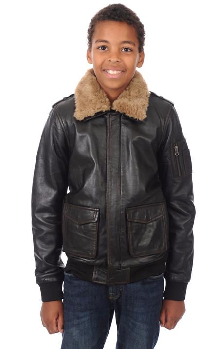 acheter en ligne a9e4a 37f5f Aviateur en Cuir Enfant , tous les styles vêtements ...