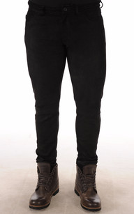 Pantalon Cuir Agneau Velours Stretch Noir1