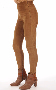 Legging Velours Stretch Cognac
