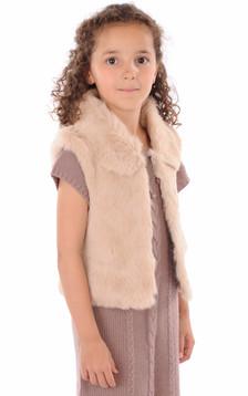 Gilet Enfant Fourrure Lapin1