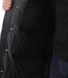 Parka Stirling Grise avec Fourrure Noire Moose Knuckles