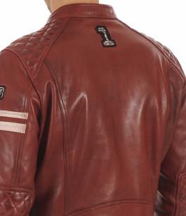Blouson Motard Rouge Foncé Homme Daytona 73