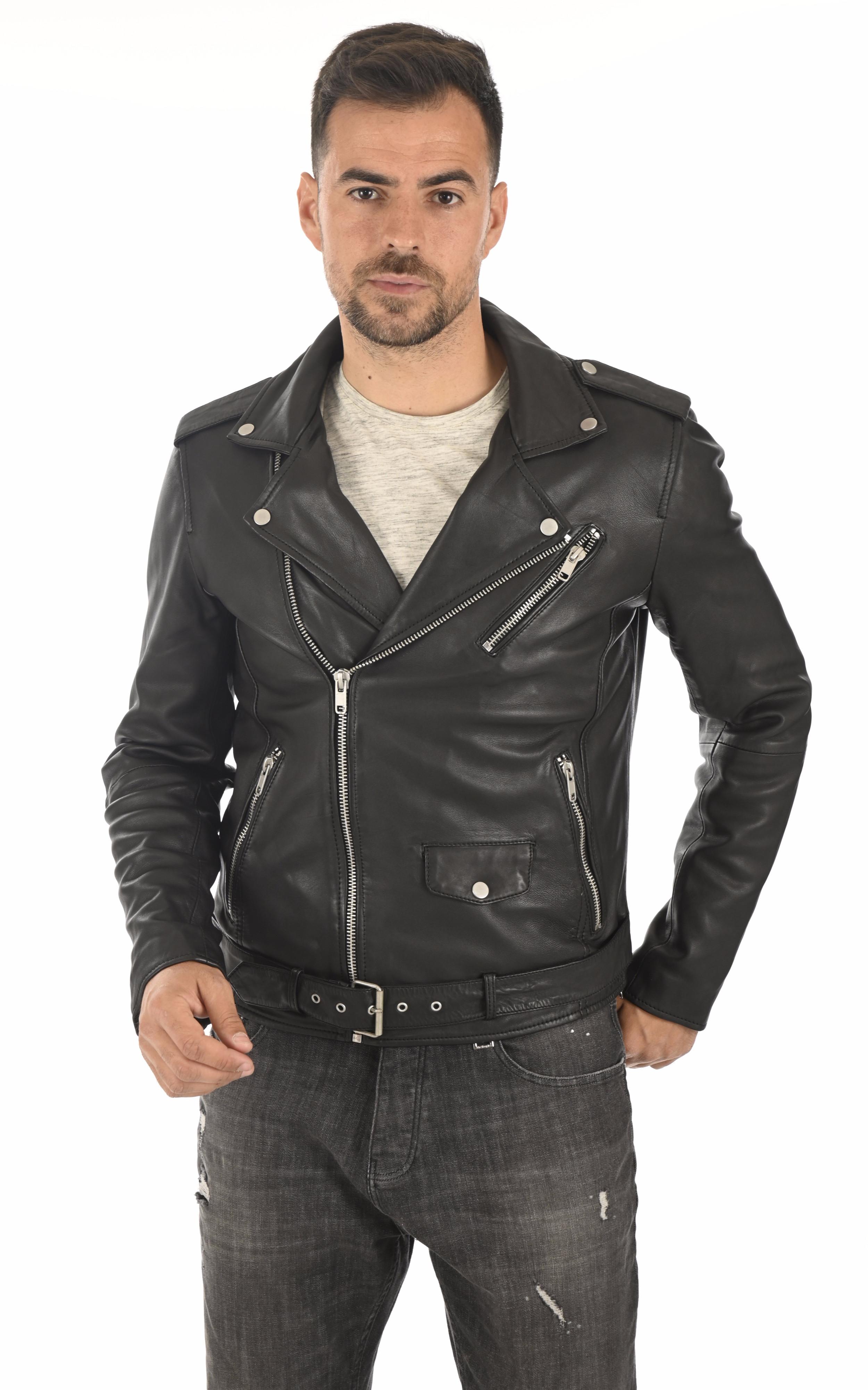 Blouson Rocker noir Serge Pariente