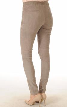 Pantalon Agneau Velours Gris